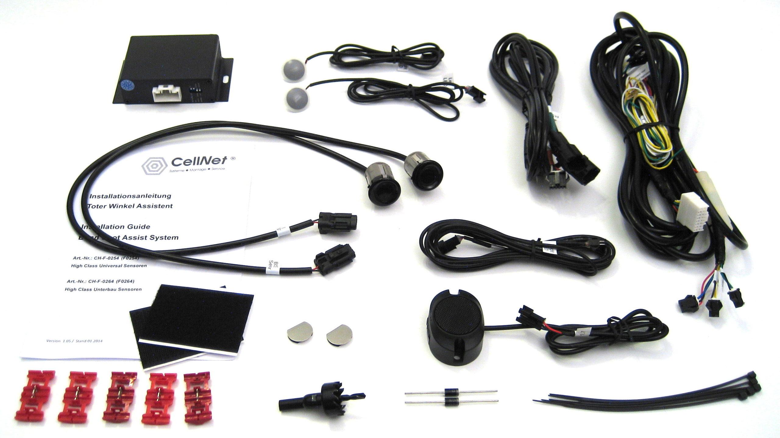 Toter-Winkel-Assistent mit 2 x High Class UNIVERSAL Sensoren / Spurwechsel-Assistent / Blind Spot Assist-863