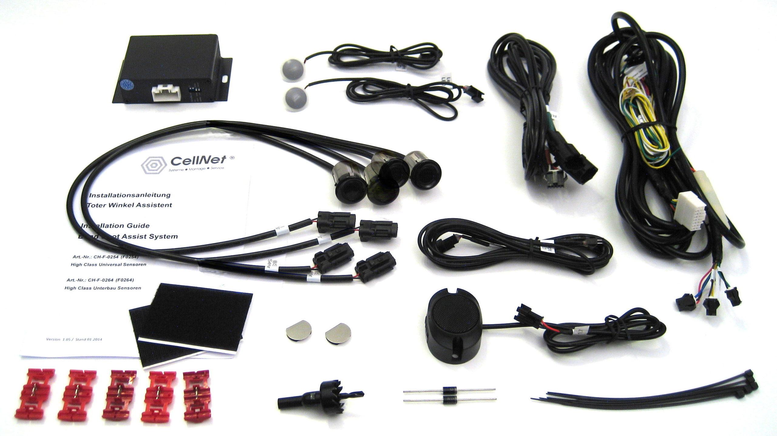 Toter-Winkel-Assistent mit 4 x Universal-High-Class-Sensoren-977