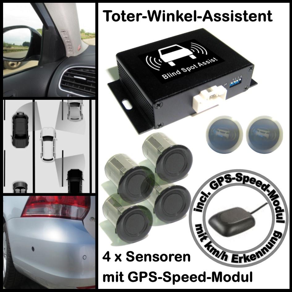 Toter-Winkel-Assistent mit 4 x Universal-High-Class-Sensoren incl. GPS-Speed-Modul-0