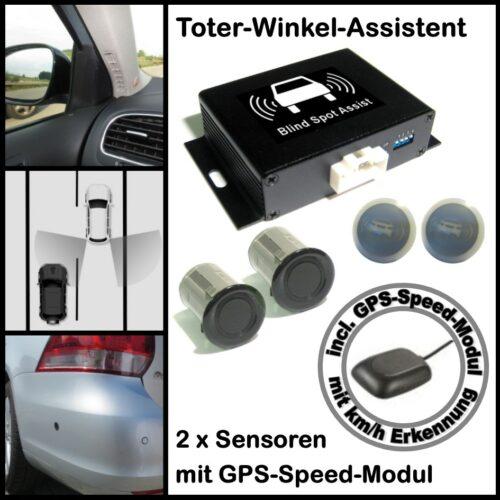 Toter-Winkel-Assistent mit 2 x High Class UNIVERSAL Sensoren incl. GPS-Speed-Modul-0