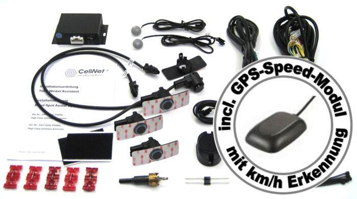 Toter-Winkel-Assistent mit 4 x UNTERBAU-Sensoren incl. GPS-Speed-Modul-1031