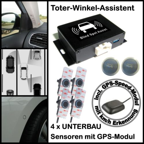 Toter-Winkel-Assistent mit 4 x UNTERBAU-Sensoren incl. GPS-Speed-Modul-0