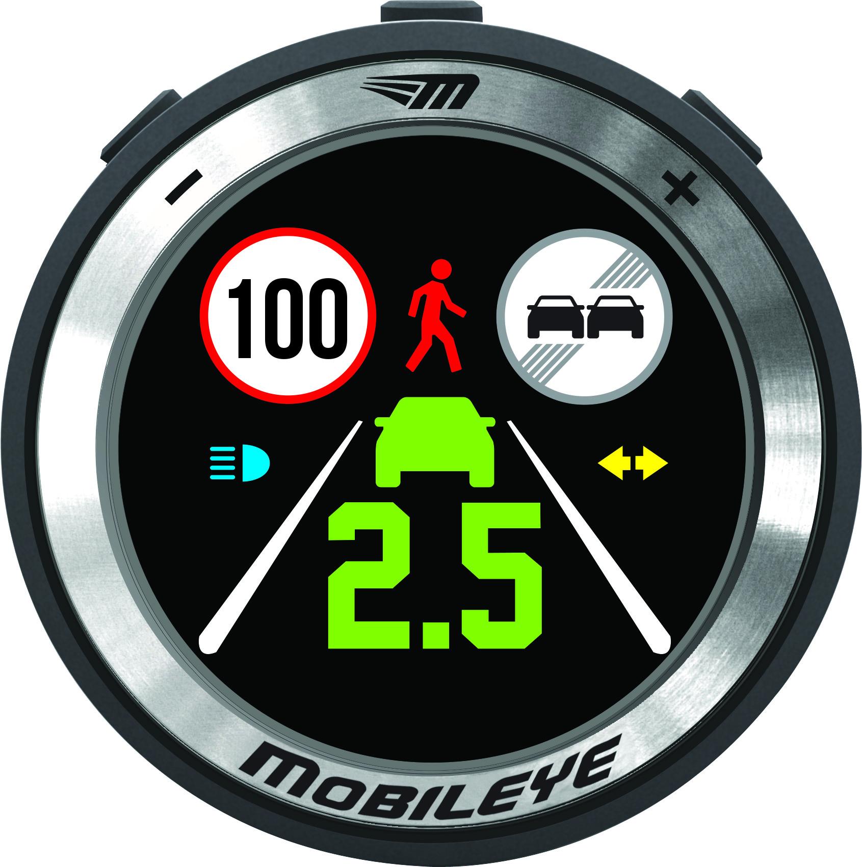 Mobileye 630 LCD-Display, alle Alarmmeldungen