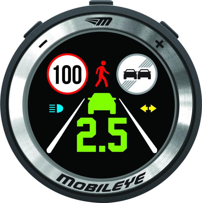 Mobileye 630 LCD Display / alle Alarmmeldungen