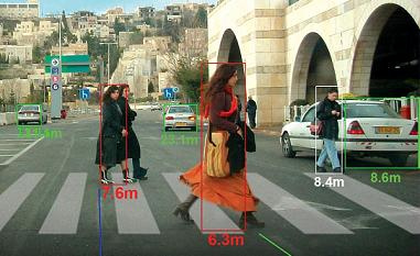 Fußgängerkollisionswarnung - Meßfahrt