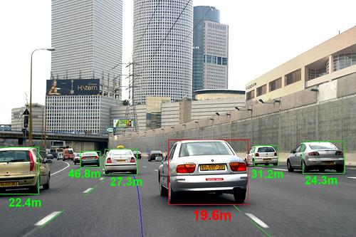 Vorausschauende Kollisionswarnung - Meßfahrt
