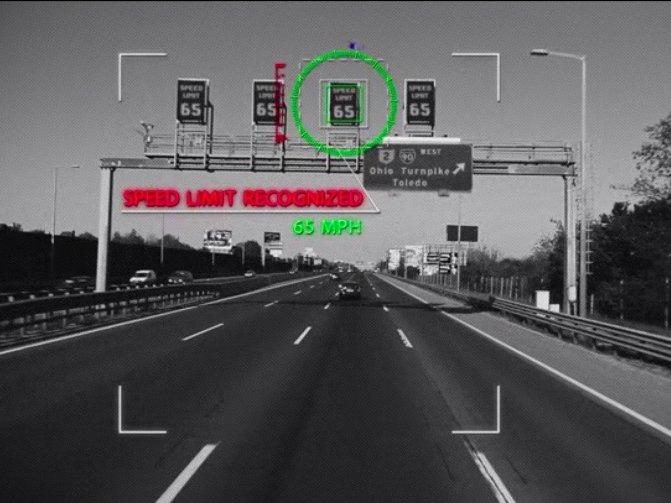Geschwindigkeitsbegrenzungsanzeige - Meßfahrt